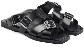 Jil Sander Buckle Strap Leather Sandals