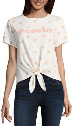 Fifth Sun Peachy Tie Front Tee - Junior