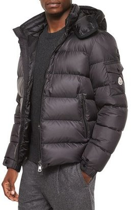 Moncler Himalaya Hooded Down Jacket, Black $1,275 thestylecure.com