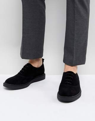 Zign Shoes Suede Lace Up Shoes In Black