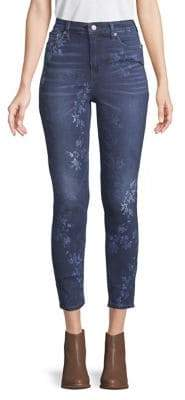 Lucky Brand Floral High-Rise Skinny Jeans