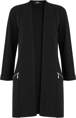 WallisWallis Black Zip Pocket Jacket