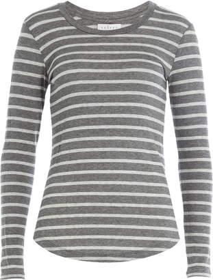 Velvet Long Sleeved Striped Top