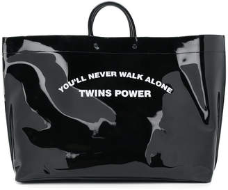 DSQUARED2 You'll Never Walk Alone Twins Power tote