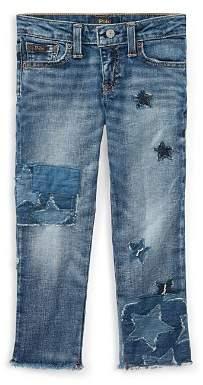 Ralph Lauren Girls' Star Patchwork Jeans - Little Kid