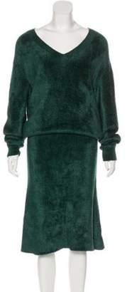 Balenciaga V-Neck Maxi Dress w/ Tags Green V-Neck Maxi Dress w/ Tags