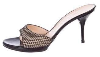 Casadei Mesh Slide Sandals
