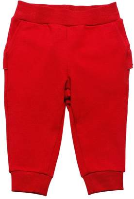 MonnaLisa Back Ruffle Cotton Sweatpants