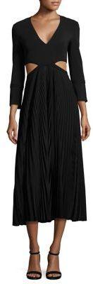 A.L.C.A.L.C. Josefa Pleated Cutout Dress