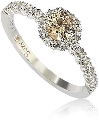 LeVian Suzy Jewelry Sterling Silver Brown CZ Petite Bridal Ring