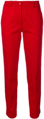 P.A.R.O.S.H. striped trim tapered leg trousers