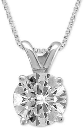 Macy's Diamond Solitaire Pendant Necklace (1/2 ct. t.w.) in 14K Gold or White Gold