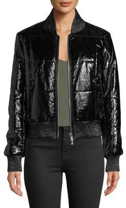 Veronica Beard Malin Quilted Zip-Front Bomber Jacket