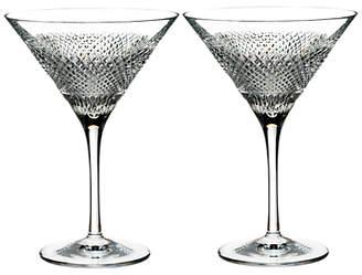 Waterford Diamond Line Crystal Martini Glass, 200ml, Set of 2