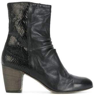 Ink zipped ankle boots