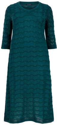 Marina Rinaldi V-Neck Midi Dress