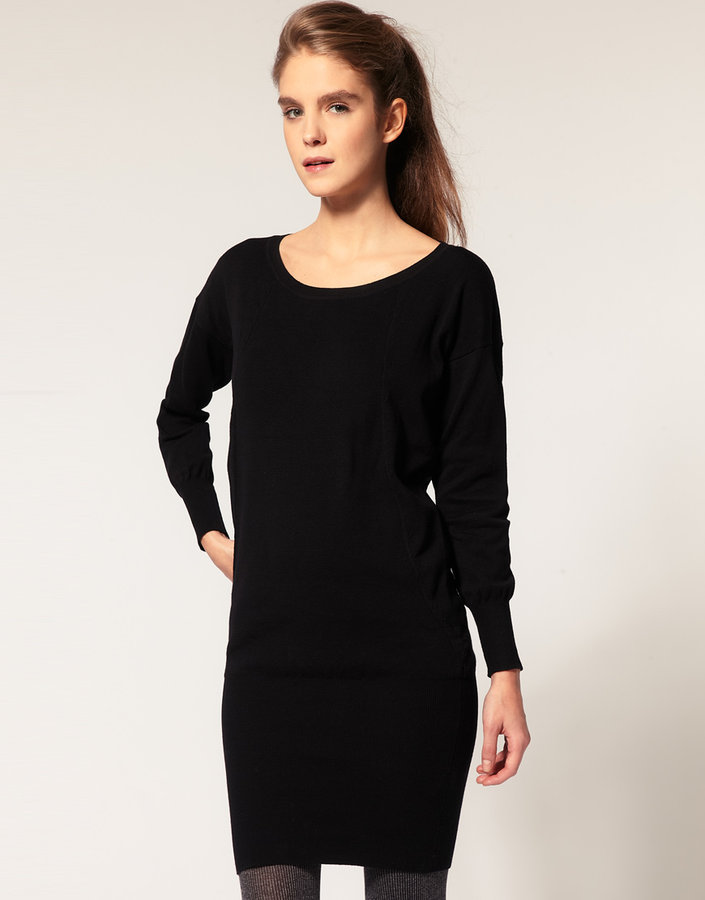 ASOS Knitted Dress With Scoop Neck