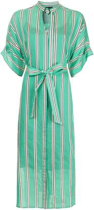 Aula pinstriped shirt dress
