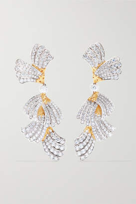 Buccellati 18-karat White And Yellow Gold Diamond Earrings