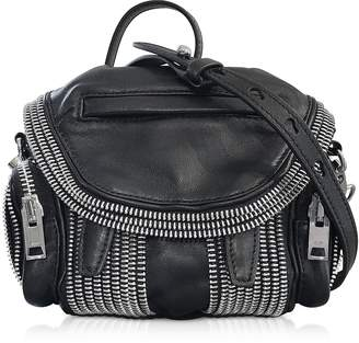 Alexander Wang Black Leather Micro Marti Zip Shoulder Bag