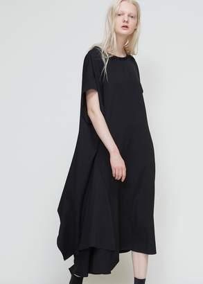 Yohji Yamamoto Short Sleeve Draped Dress