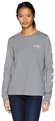 Hurley Women's Apparel Women's Long-Sleeve Floral T-Shirt