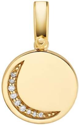 Michael Kors Sterling Silver Crystal Moon Charm