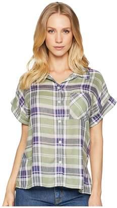 Sanctuary Mod Short Sleeve Boyfriend Shirt Women's Short Sleeve Button Up