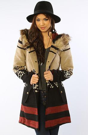 BB Dakota The Arlet Hooded Coat in Light Camel