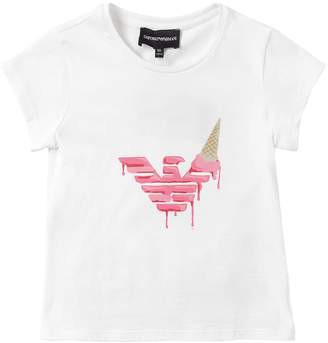 Emporio Armani Ice Cream Printed Cotton Jersey T-Shirt