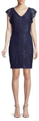 Kensie Dresses Floral Lace Sheath Dress
