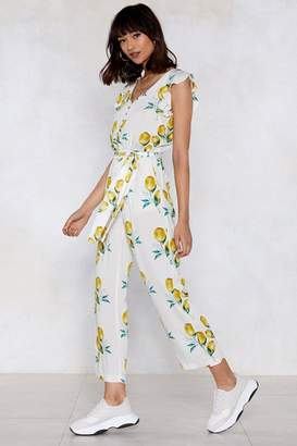Nasty Gal When Life Gives You Lemons Ruffle Jumpsuit