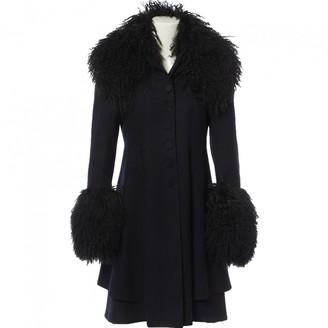 Philosophy di Alberta Ferretti Navy Wool Coats