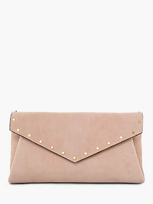 Dune Benvela Studded Envelope Clutch Bag, Cappuccino