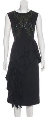 Dries Van Noten Sleeveless Midi Dress w/ Tags Black Sleeveless Midi Dress w/ Tags