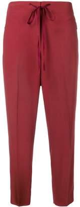 Bottega Veneta piped cropped trousers