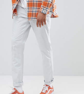 Asos Design Tall Tapered Chinos In Ice Grey