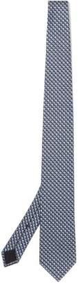 Gucci Retro Logo Jacquard Silk Tie - Mens - Blue Multi