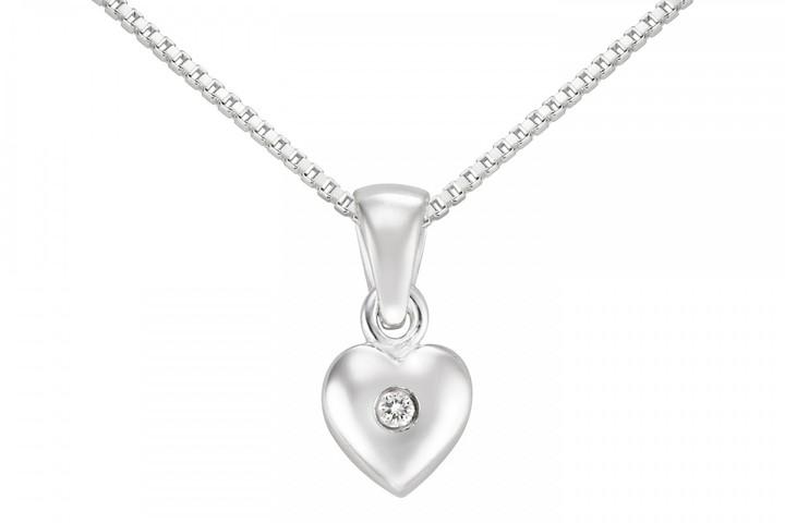 Ice.com Children's Diamond Sterling Silver Pendant w/ Chain