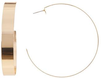 Natasha Accessories Large Wide Hoop Earrings $12.97 thestylecure.com