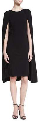 Ralph Lauren Merino Wool-Blend Cape Dress