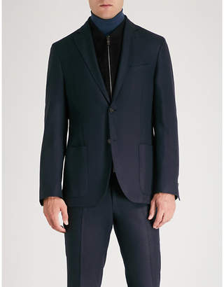 Corneliani ID regular-fit silk cashmere and suede jacket