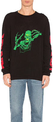 OFF-WHITE Skull Knit Rock Sweater in Black $570 thestylecure.com