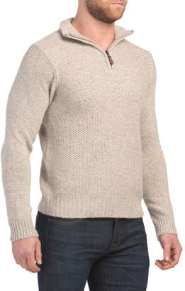 Made In Italy Nep Yarn Wool Blend Sweater