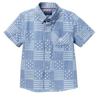 Andy & Evan Patchwork Shirt (Toddler Boys)