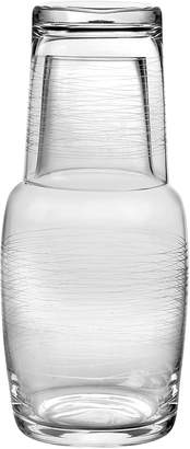 Qualia Glass Graffiti Bedside Water Carafe Set