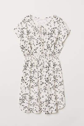 H&M Patterned Jersey Dress - White