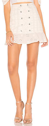 For Love & Lemons Hermosa Eyelet Mini Skirt