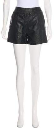 Alexander Wang Embossed Leather Shorts