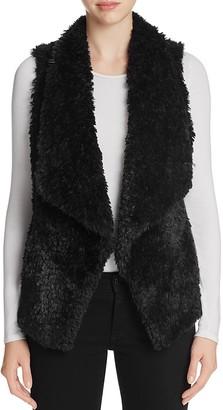 Calvin Klein Draped Faux Fur Vest $109.50 thestylecure.com